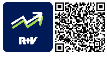 QR-Code für die App R+V-IndexInvest